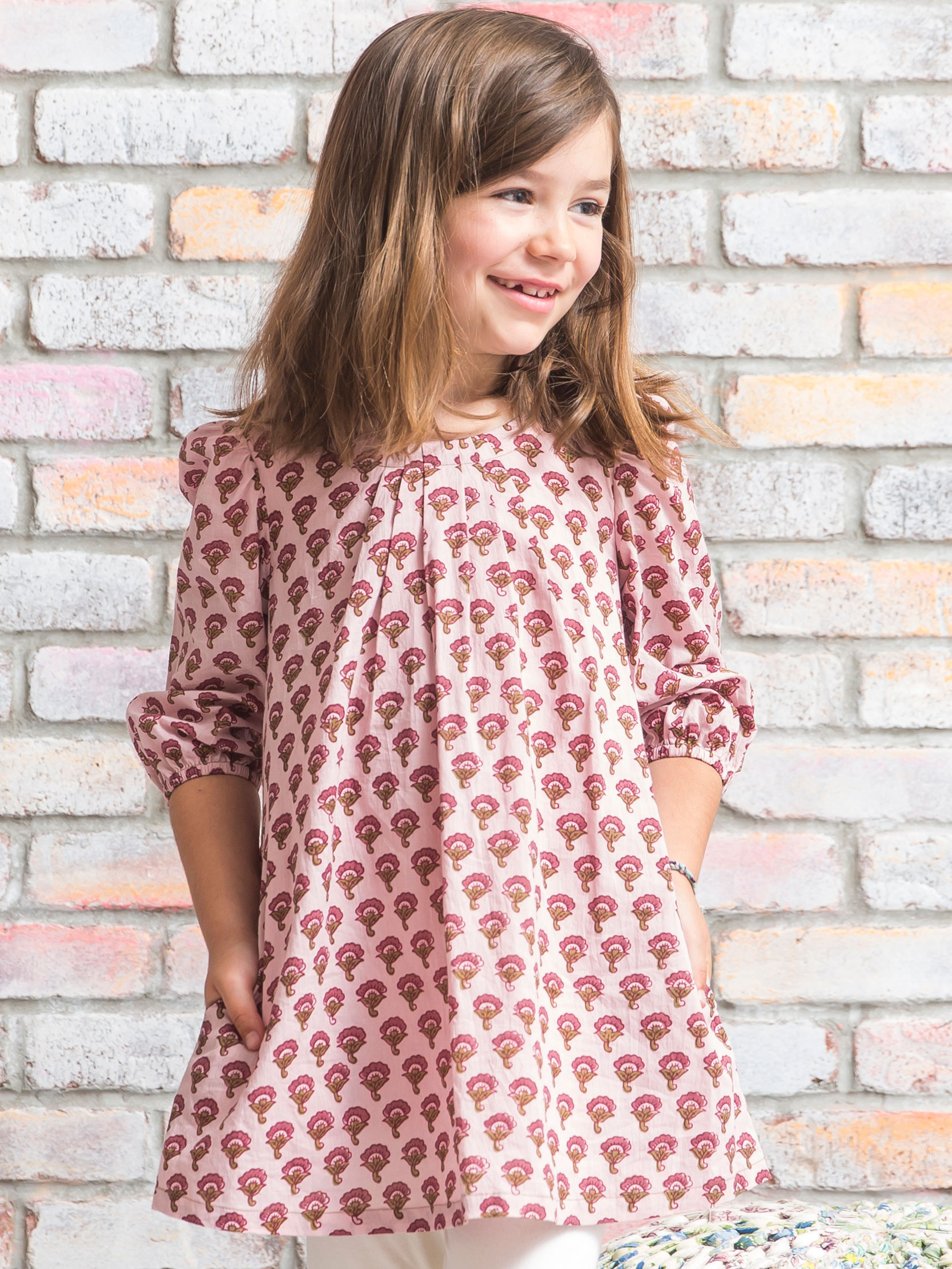 Winter Blossom Girls Tunic