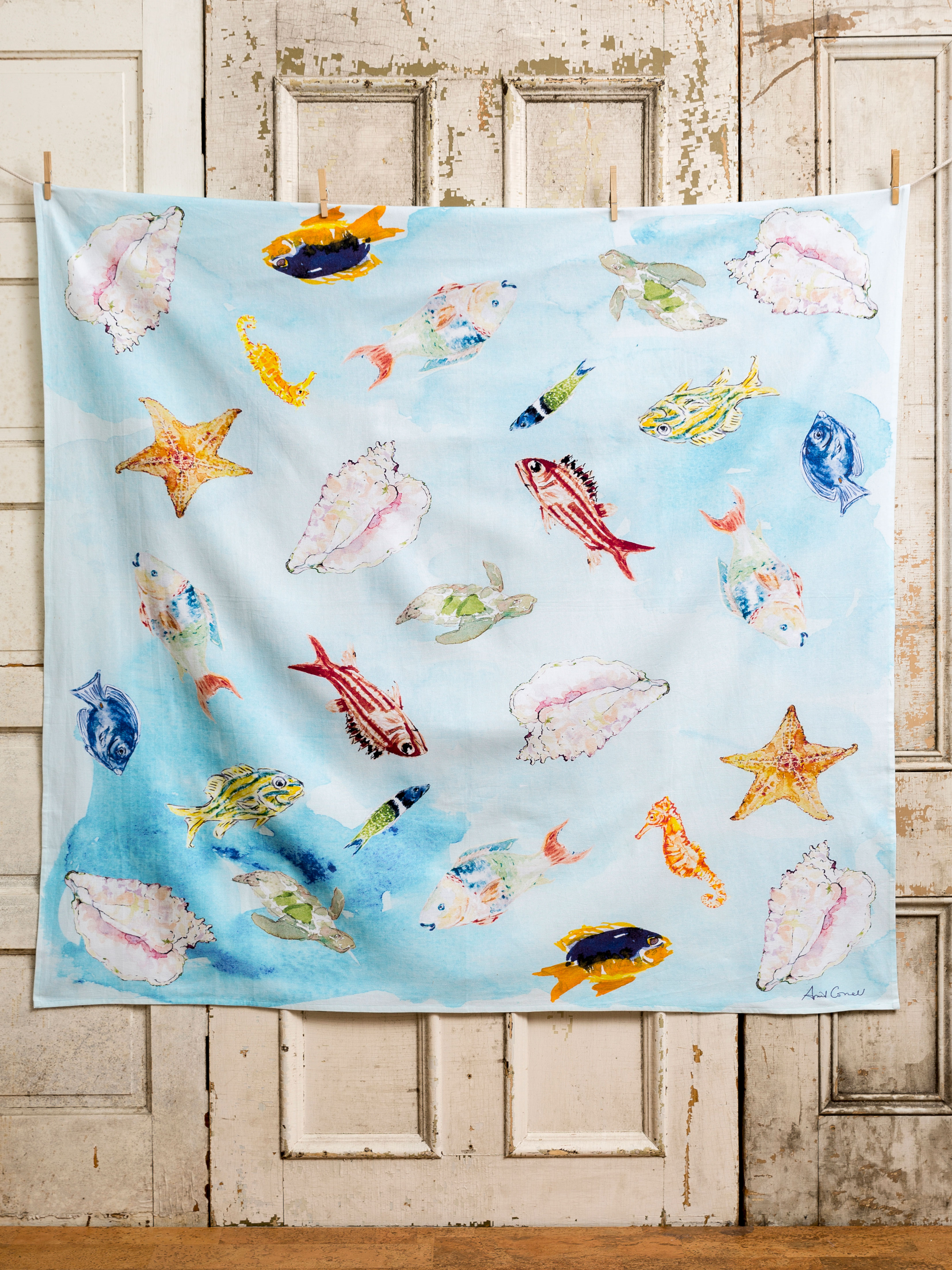 April\'s Reef Tablecloth   Our Collections, Linens & Kitchen, April\'s ...