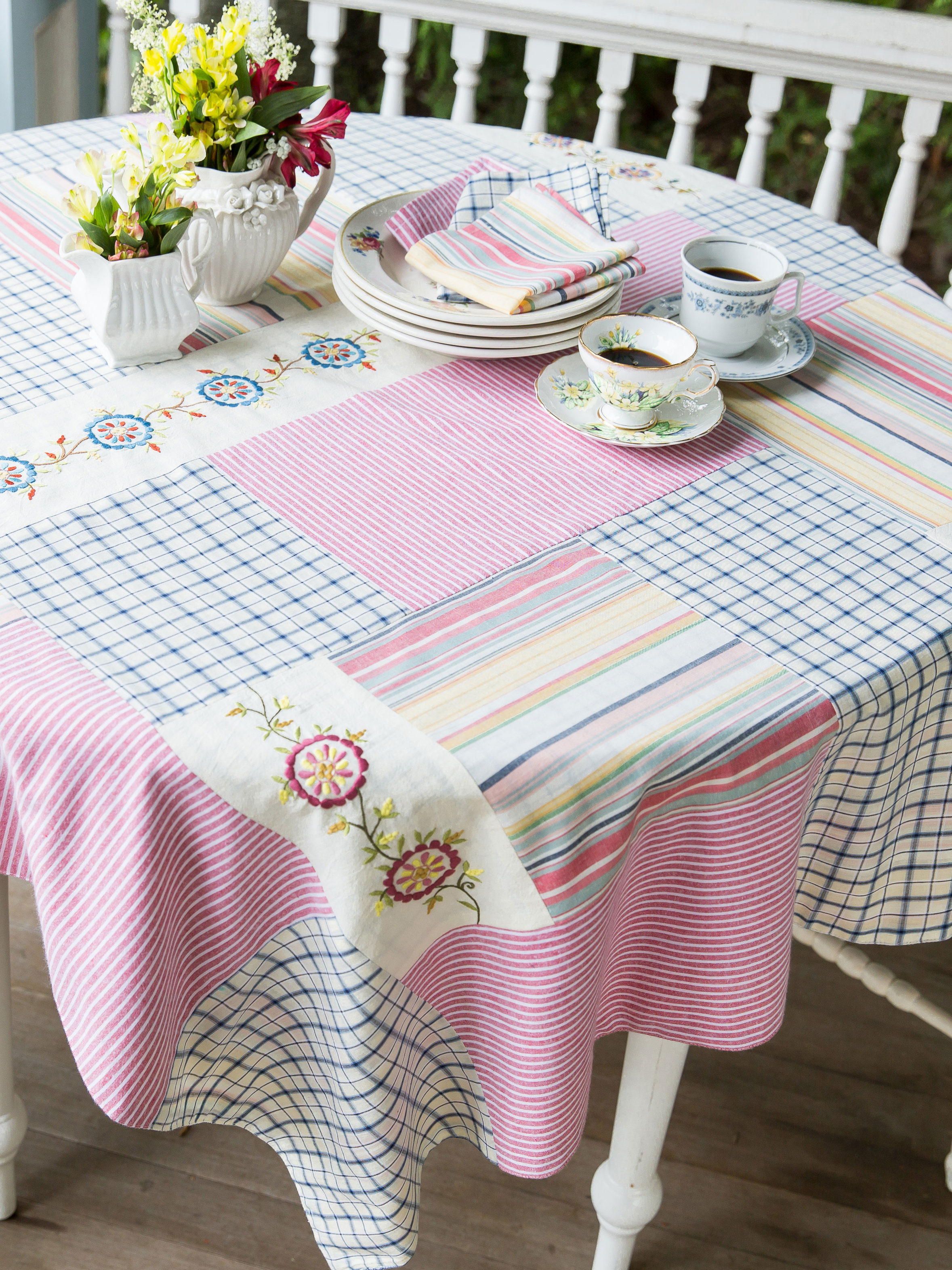 Aunt Gertie s Patchwork Tablecloth