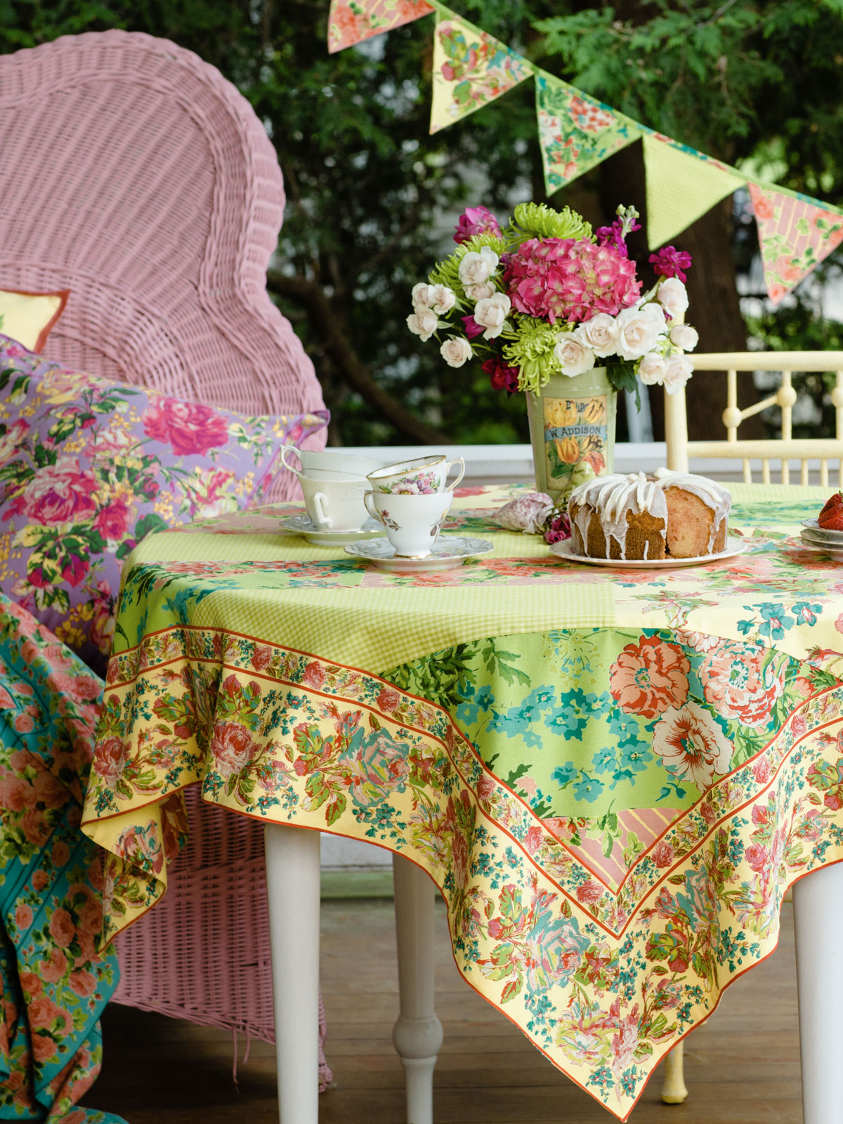 festival patchwork tablecloth attic sale linens kitchen attic beautiful designs by april. Black Bedroom Furniture Sets. Home Design Ideas