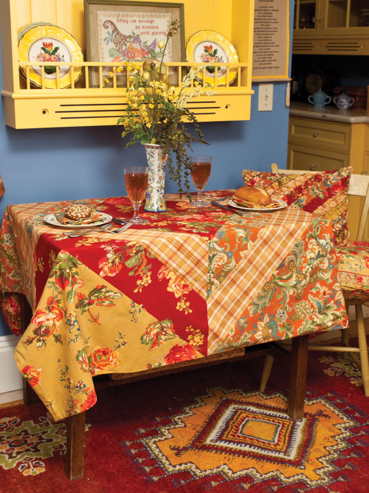 Alternate3. Alternate2. Indian Summer Patchwork Tablecloth