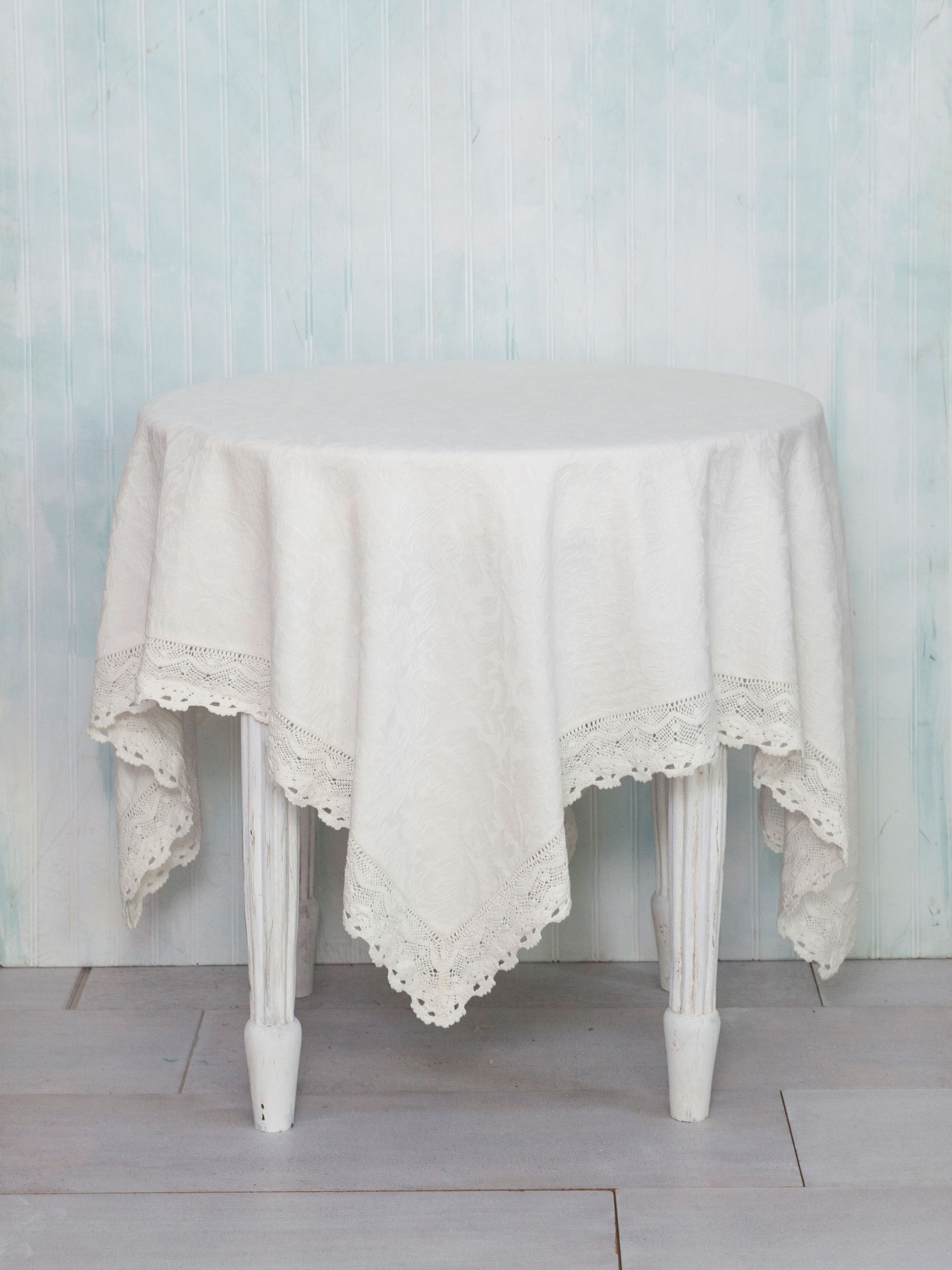 Luxurious Linen Jacquard Tablecloth - Ivory | Linens & Kitchen ...