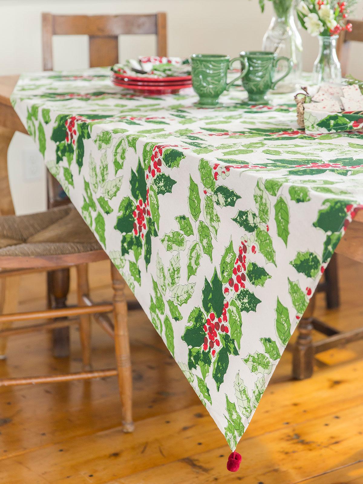 Jolly Holly Tablecloth