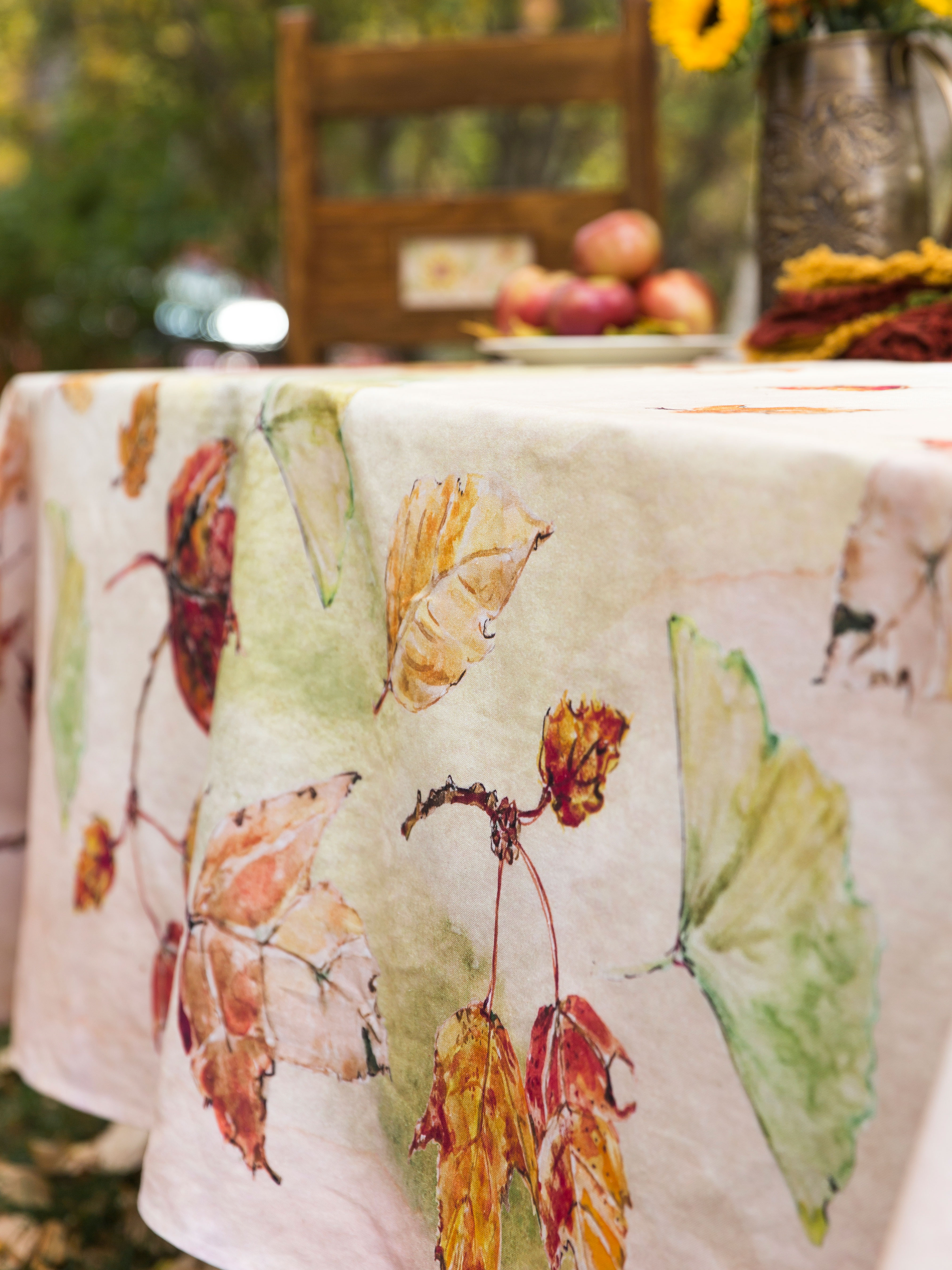 Autumn Leaves Tablecloth Kitchen Amp Table Linens