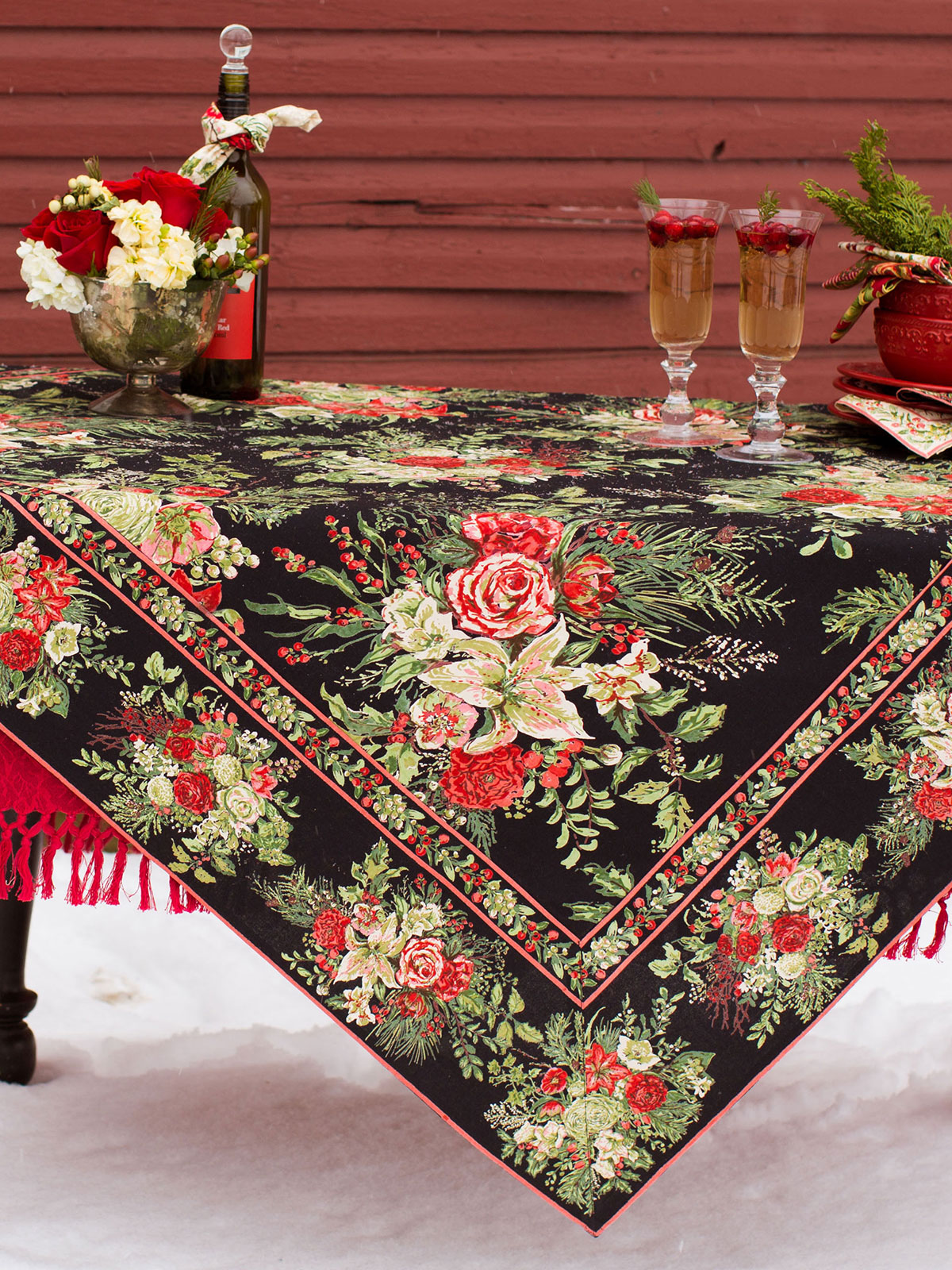 Merry Tablecloth   Antique | Your Home, Christmas Forever :Beautiful  Designs By April Cornell