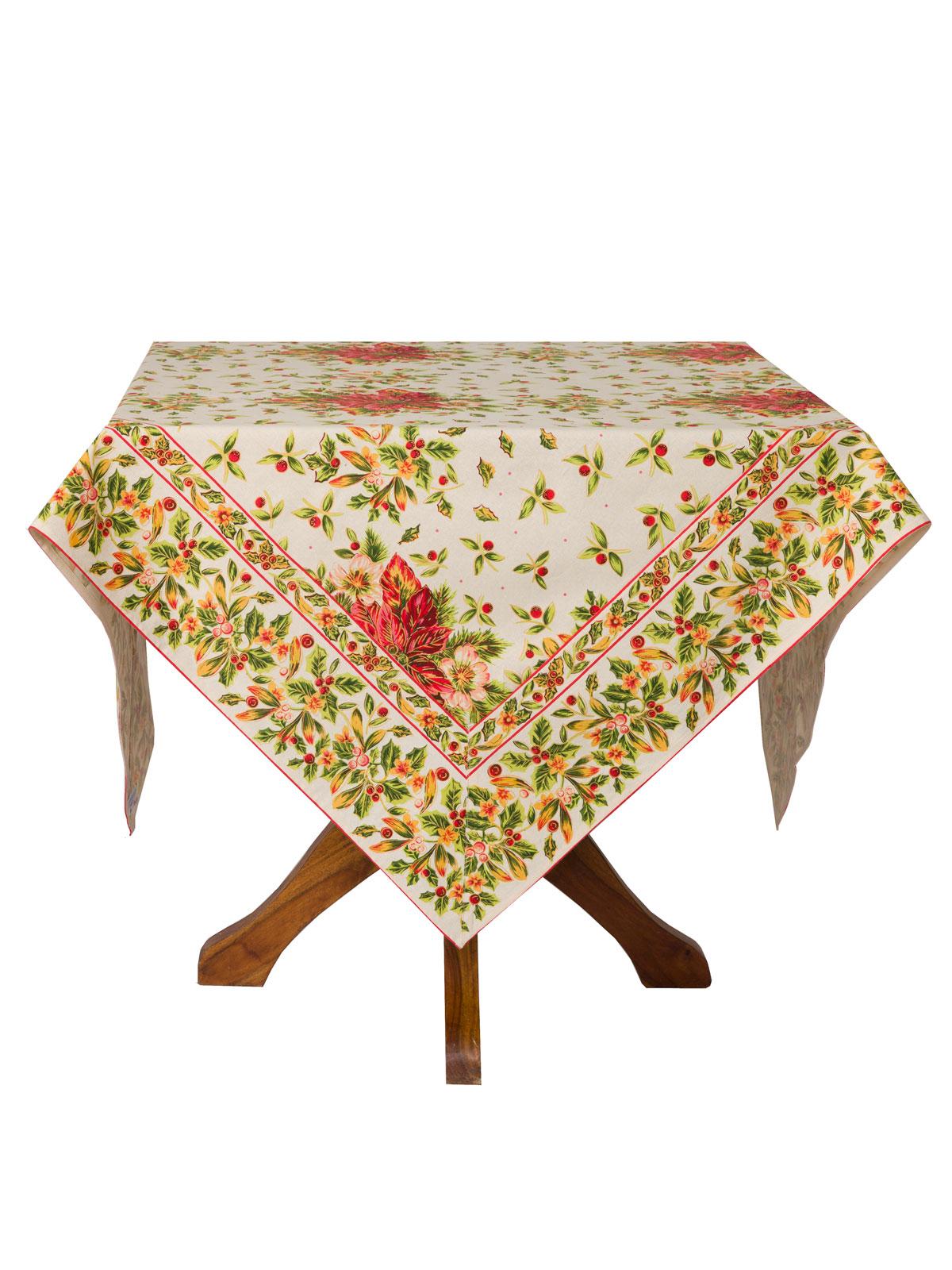 Charmant Poinsettia Tablecloth