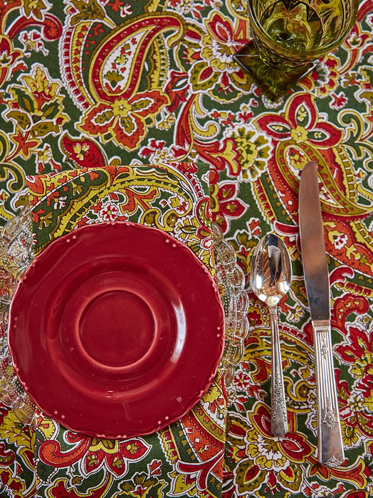 Priscilla's Paisley Tablecloth