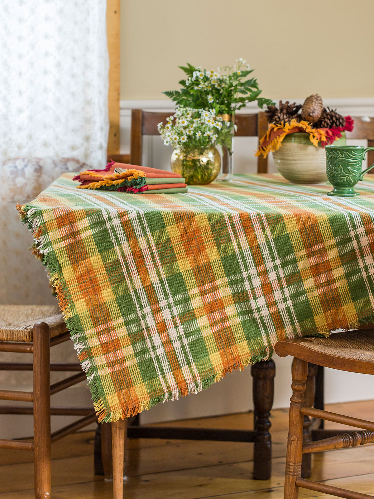 September Plaid Tablecloth