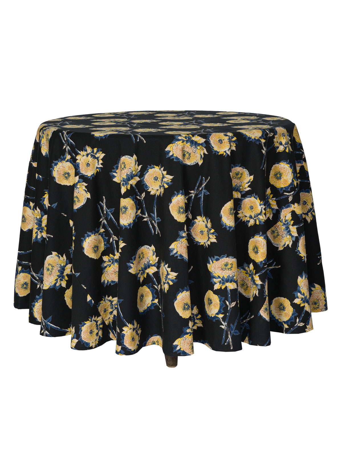 Sun Follower Round Tablecloth - Black