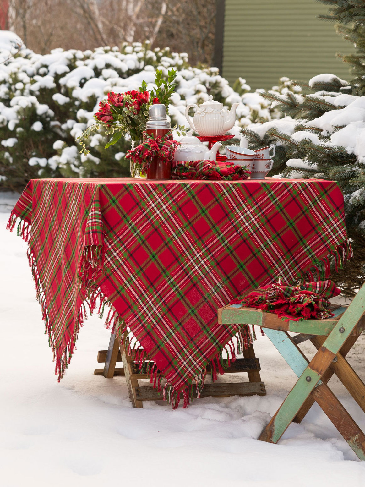 Gentil Christmas Plaid Tablecloth