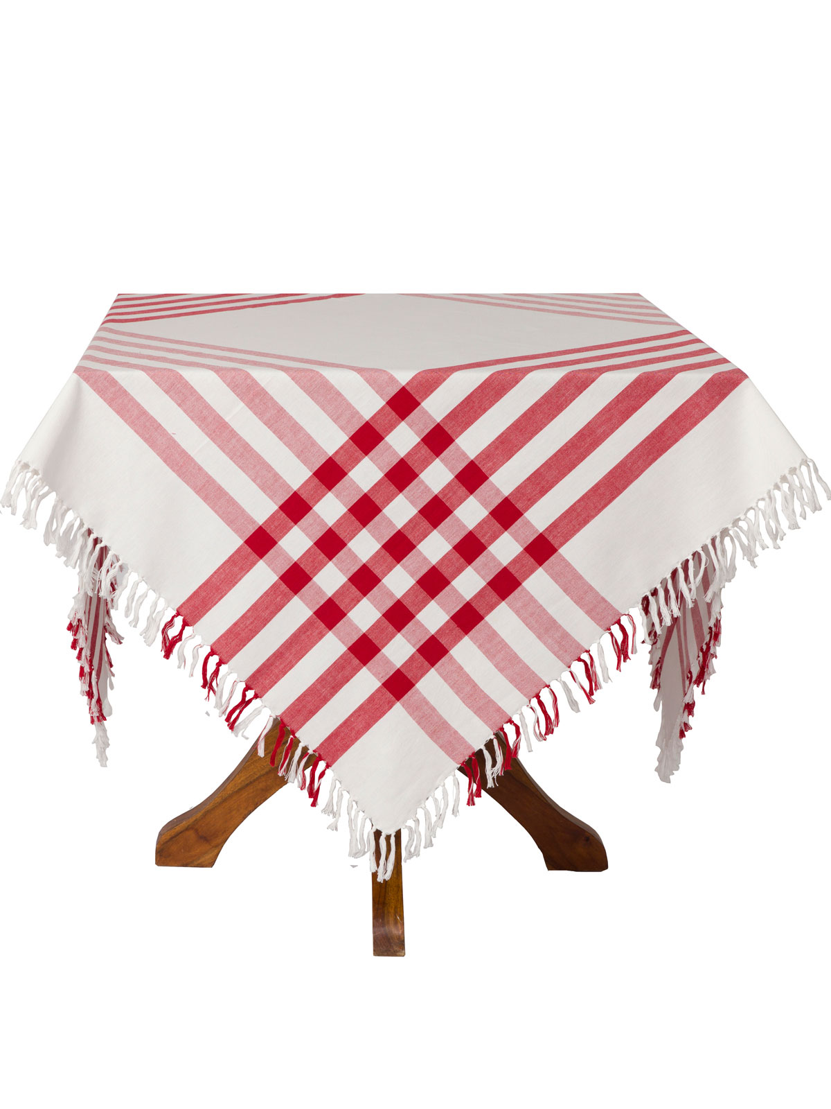 April Cornell Bedding Happy Picnic Gingham Tablecloth - Red | Attic Sale, Linens ...