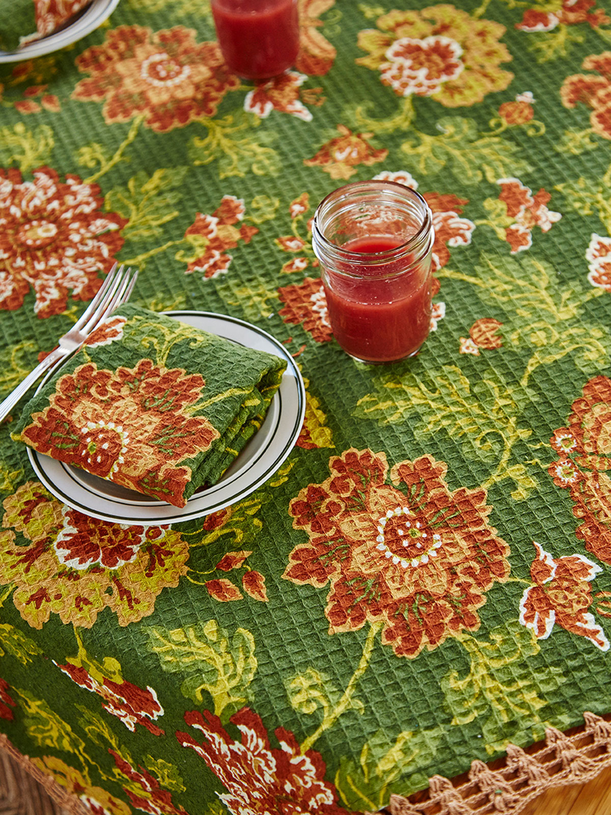 Ming Waffle Tablecloth