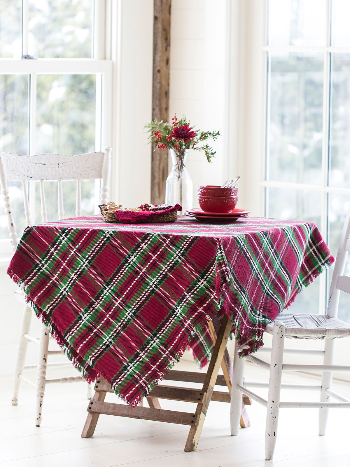 Merry Tartan Plaid Tablecloth Kitchen Amp Table Linens