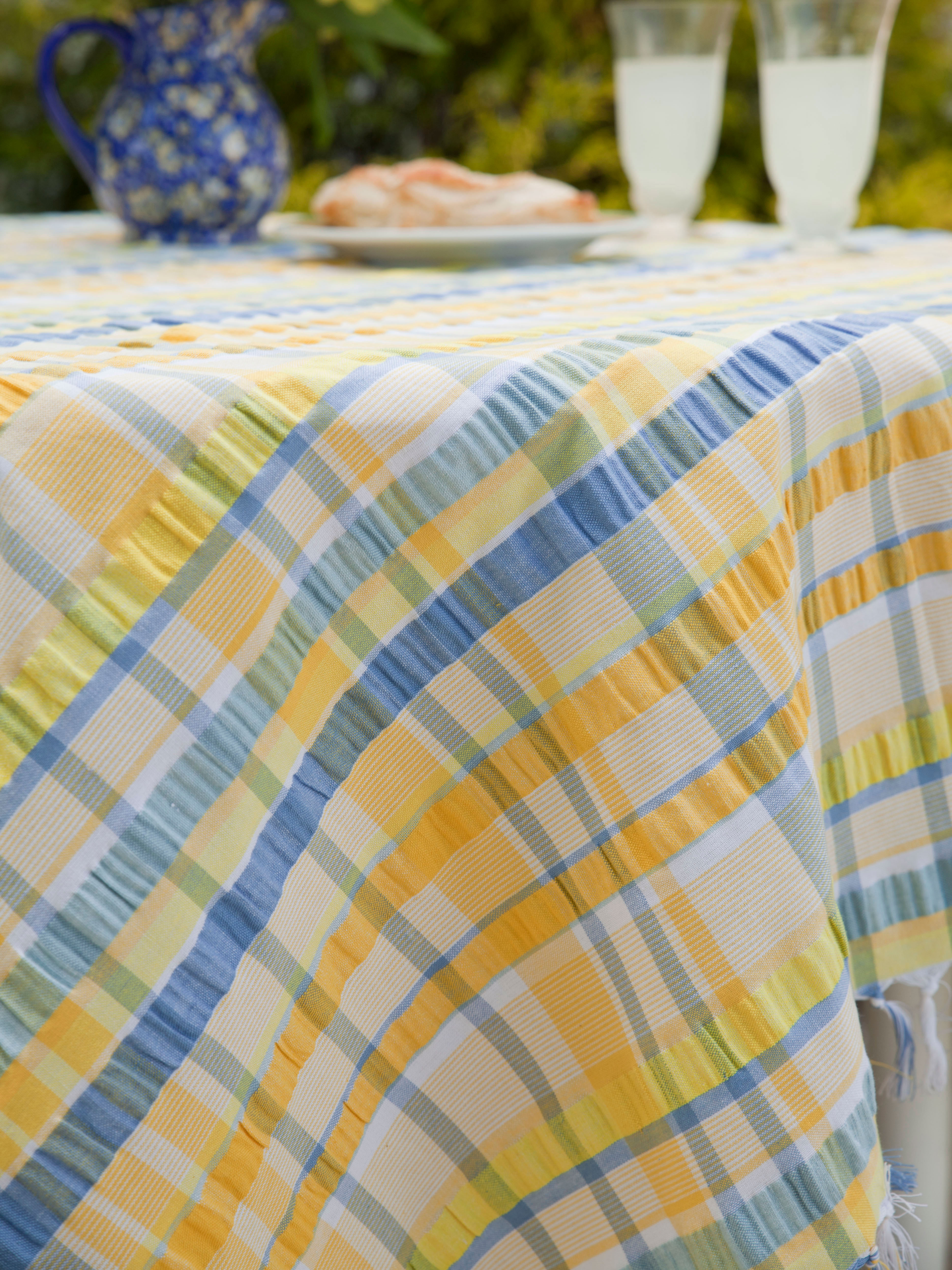 Provence Seersucker Tablecloth