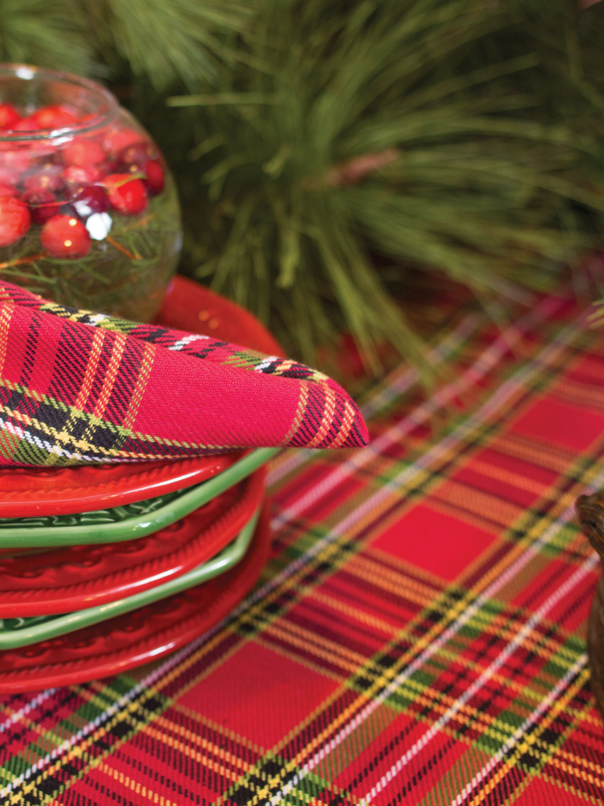 April Cornell Bedding Tartan Plaid Tablecloth | Your Home, Christmas Forever ...