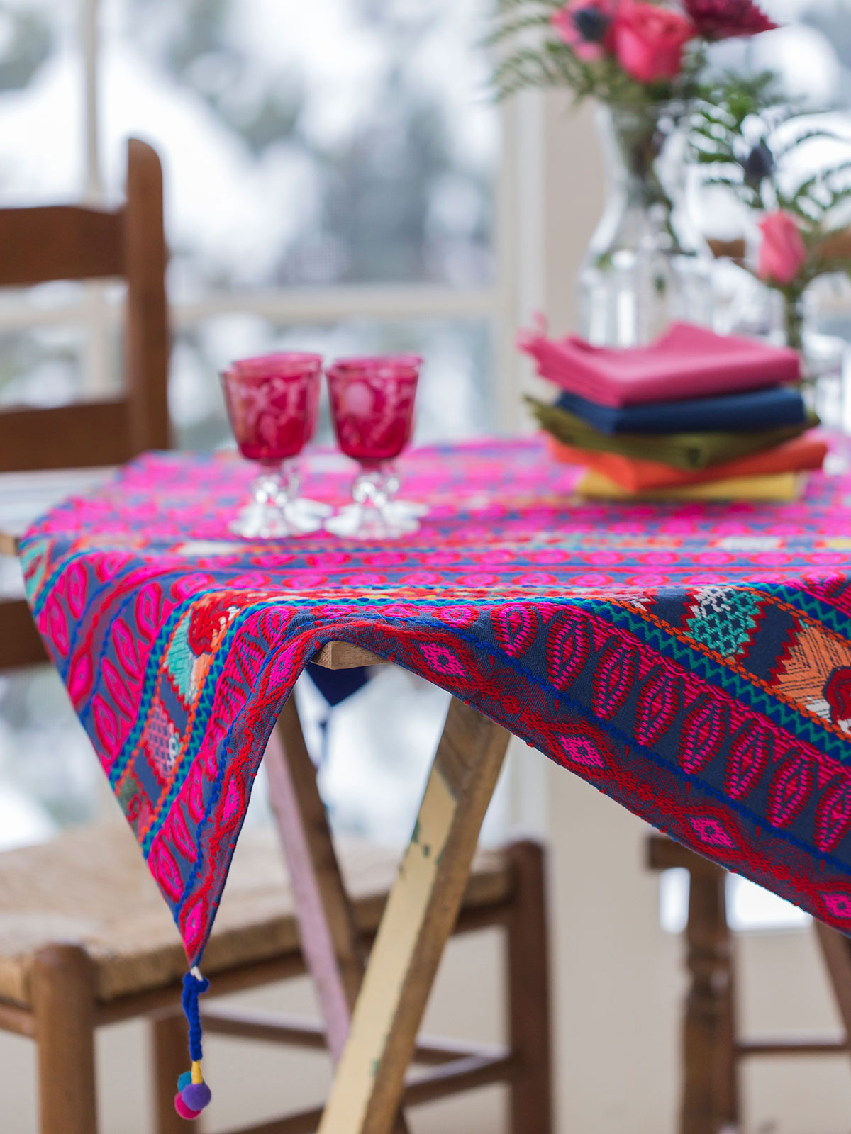 Teton Stripe Tablecloth