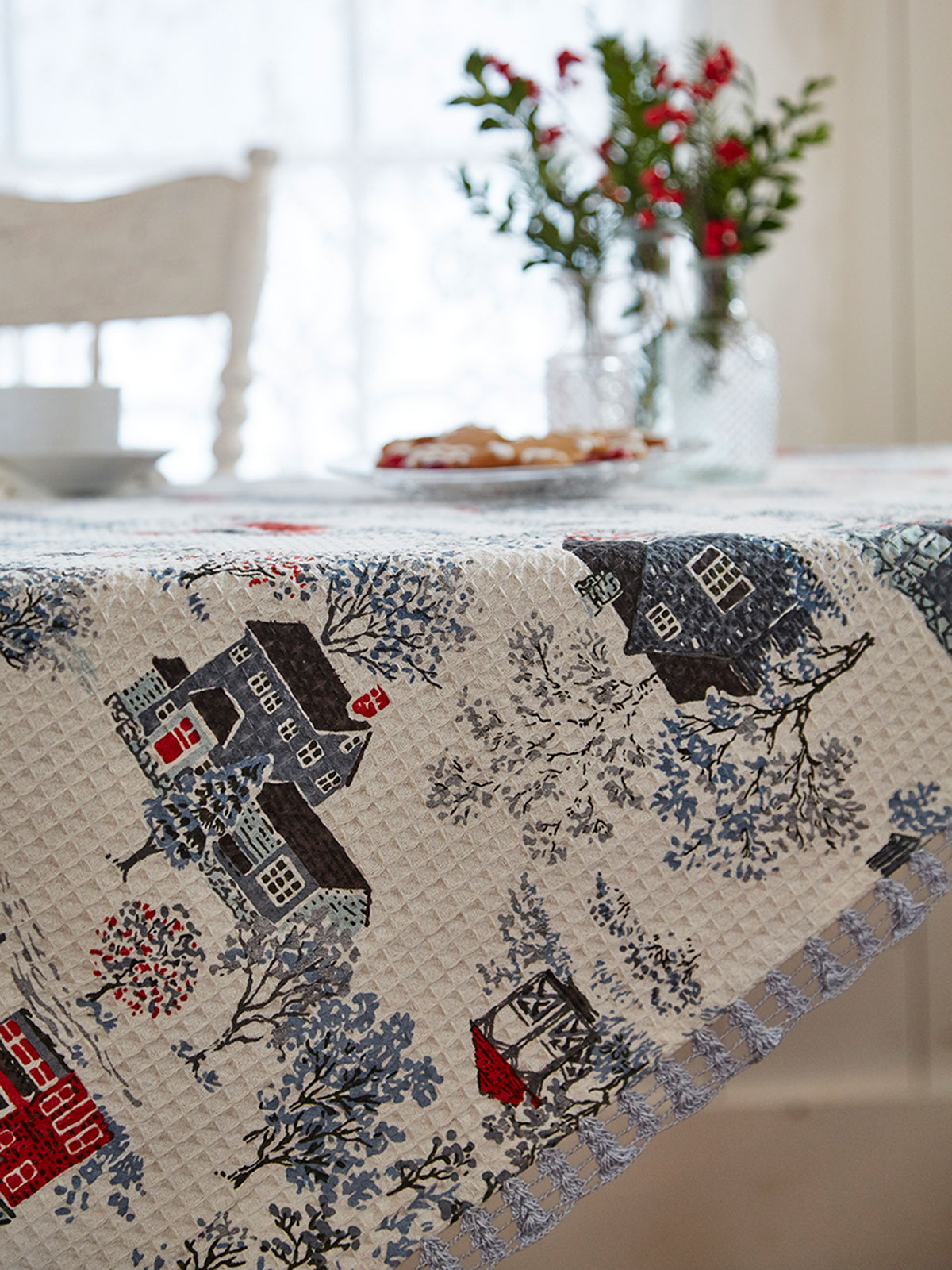 Vermont Village Waffle Tablecloth