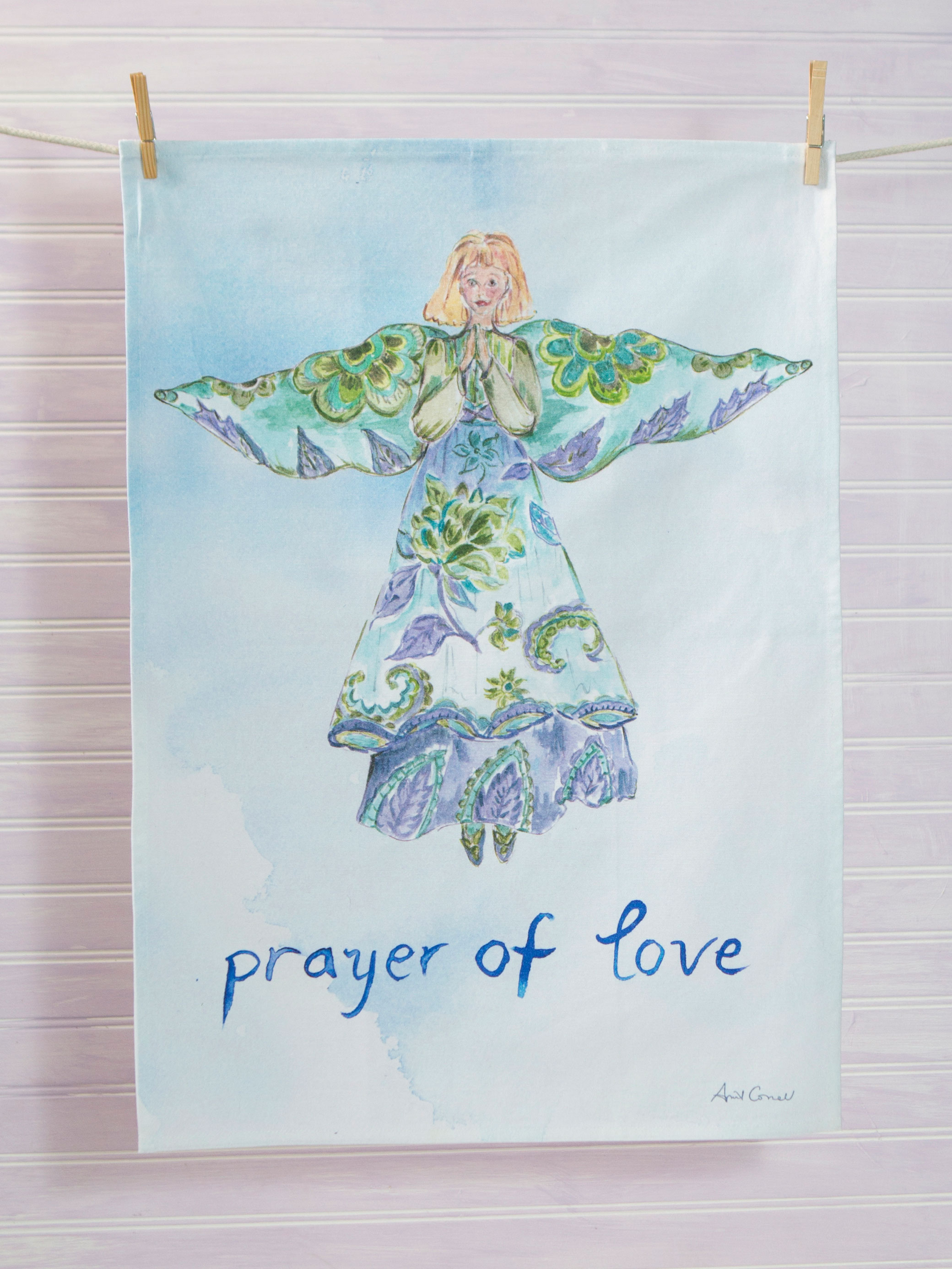 Angel Watercolor Tea Towel Set of 3 | Linens & Kitchen, Tea Towels ...