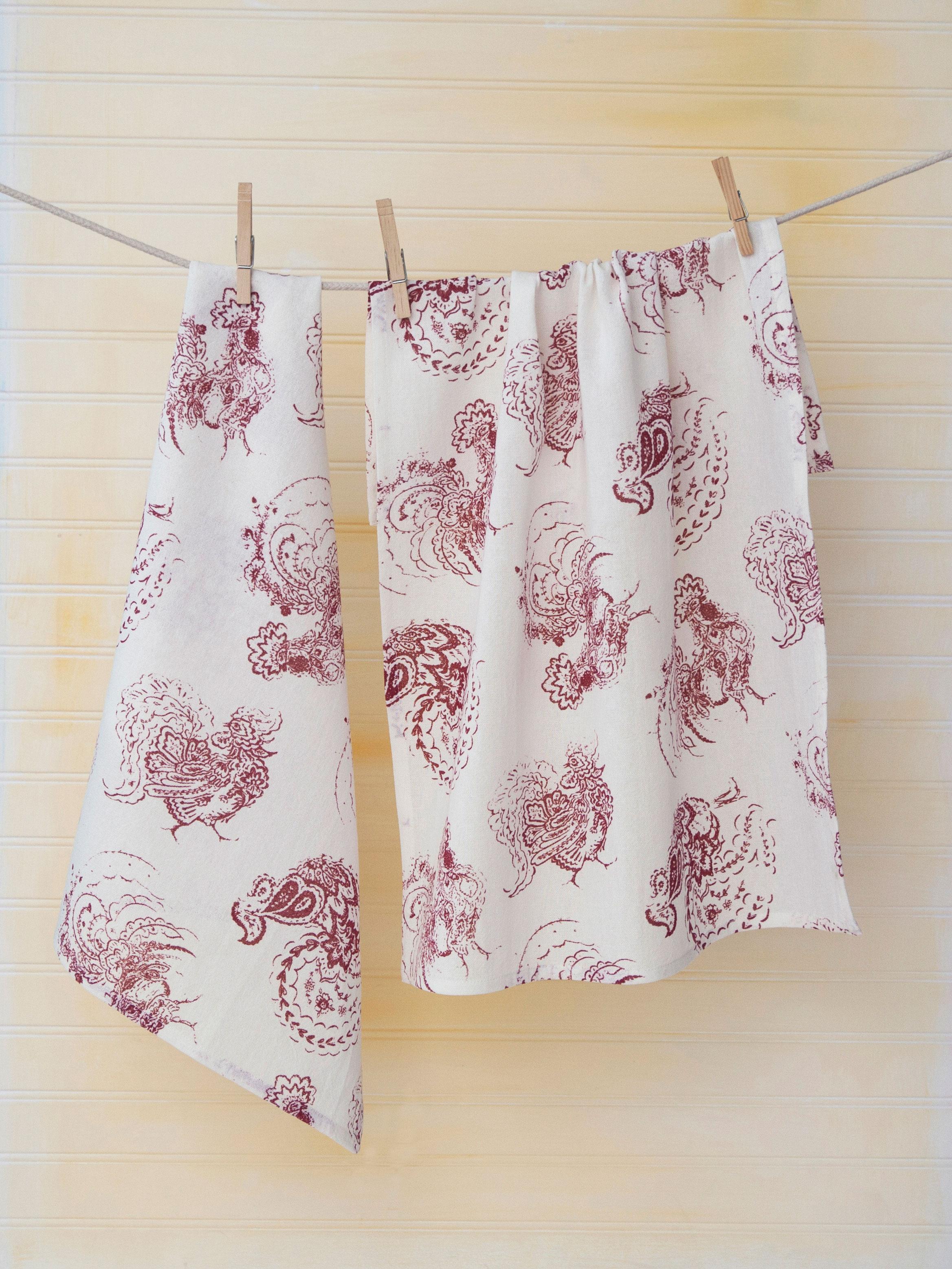 Backyard Rooster Tea Towel | Attic Sale, Linens & Kitchen Attic ...