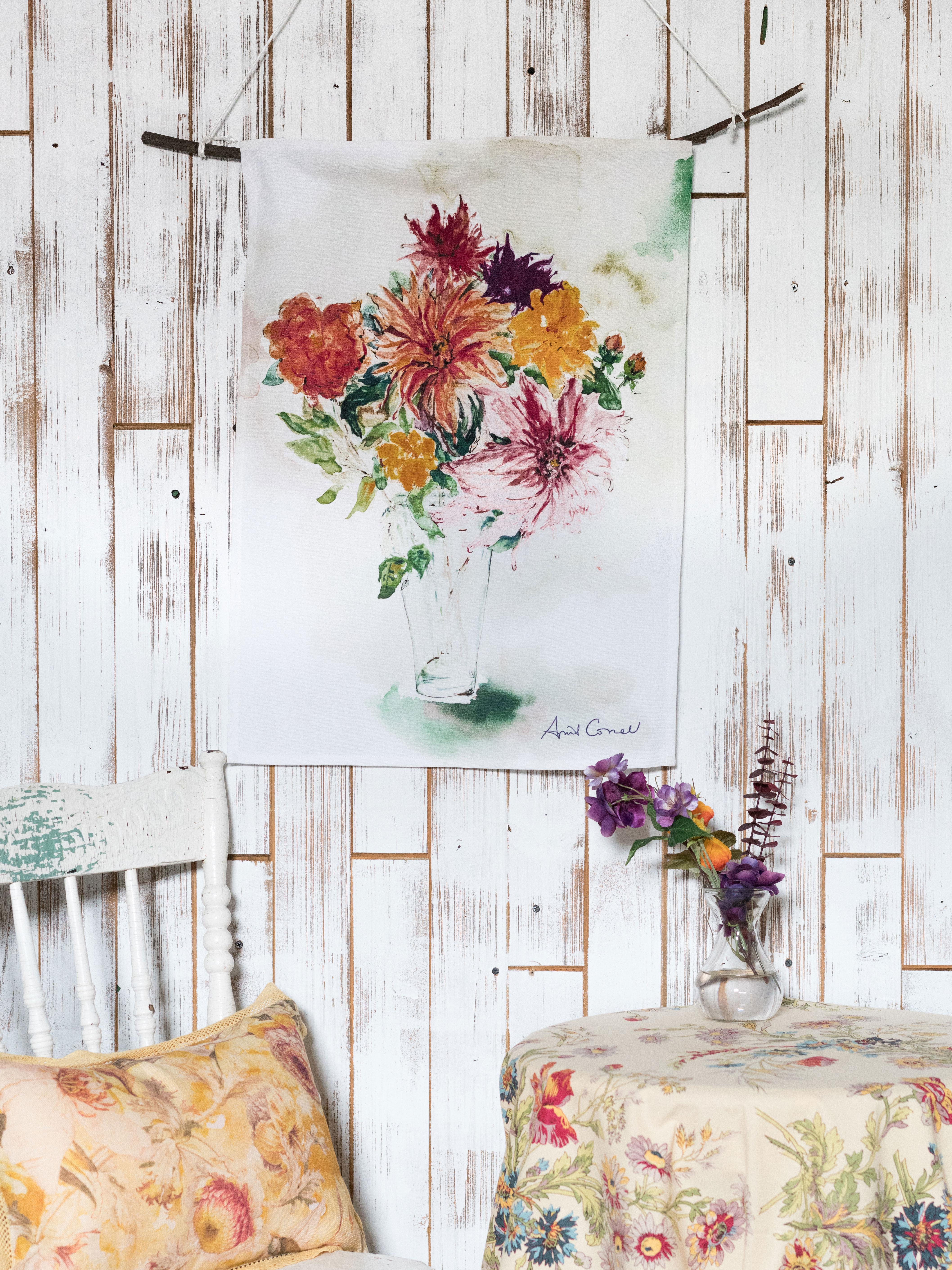Mums Watercolor Tea Towel | Linens & Kitchen, Tea Towels and Tea ...