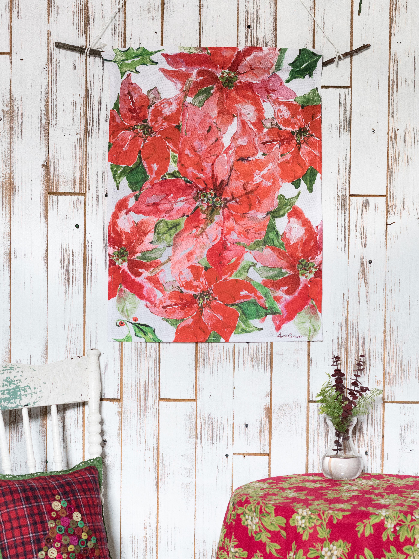 Poinsettia Tea Towel Your Home Christmas Forever
