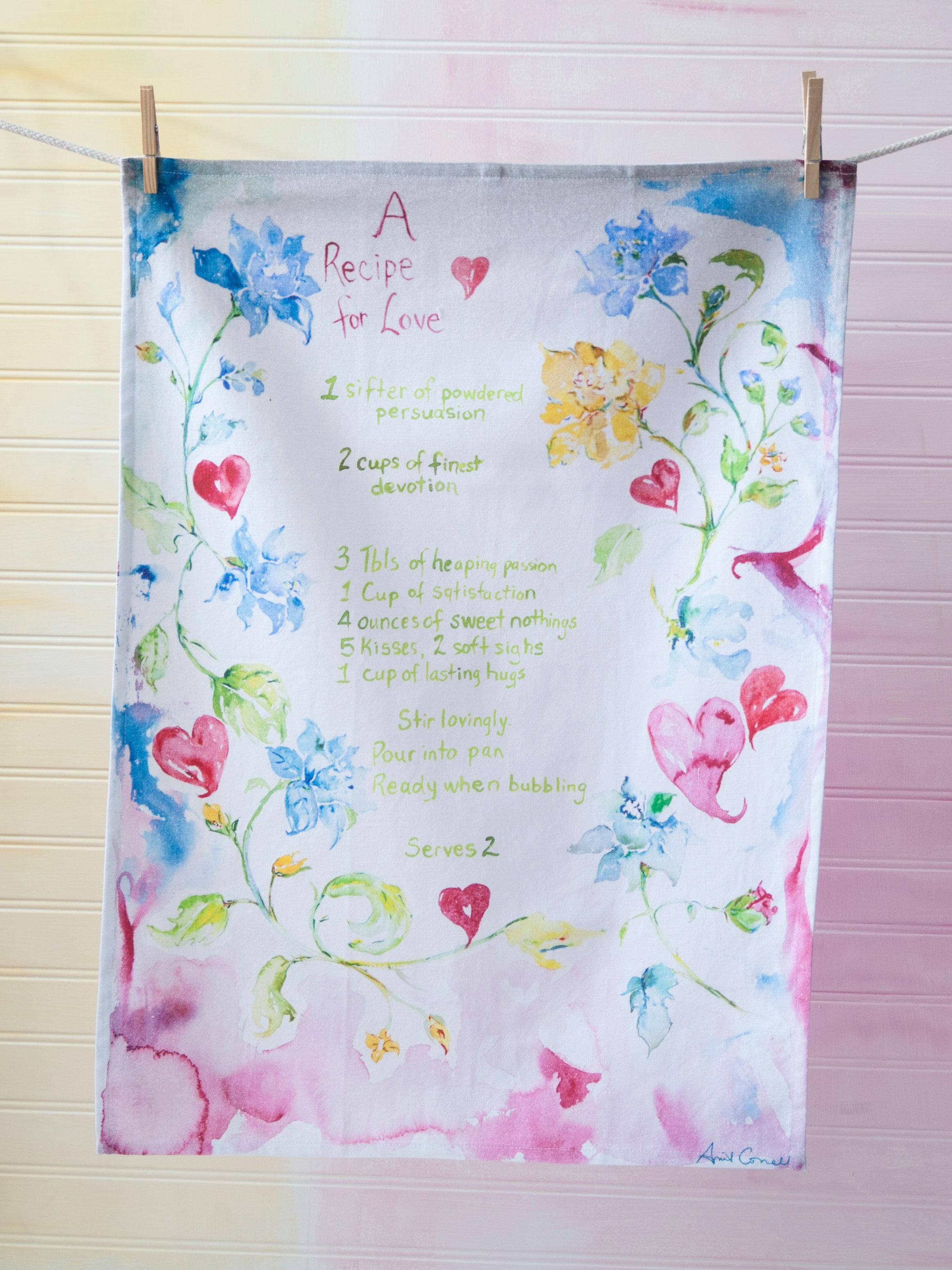 Recipe for Love Tea Towel | Linens & Kitchen, Tea Towels and Tea ...