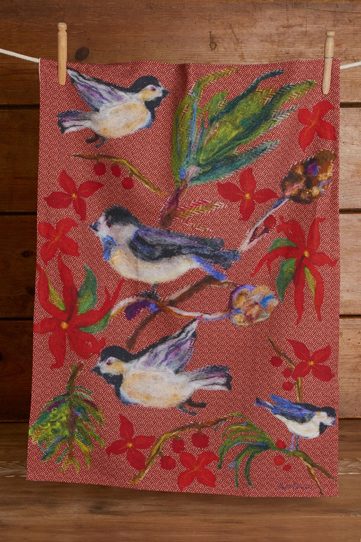 Woodland Christmas Tea Towel