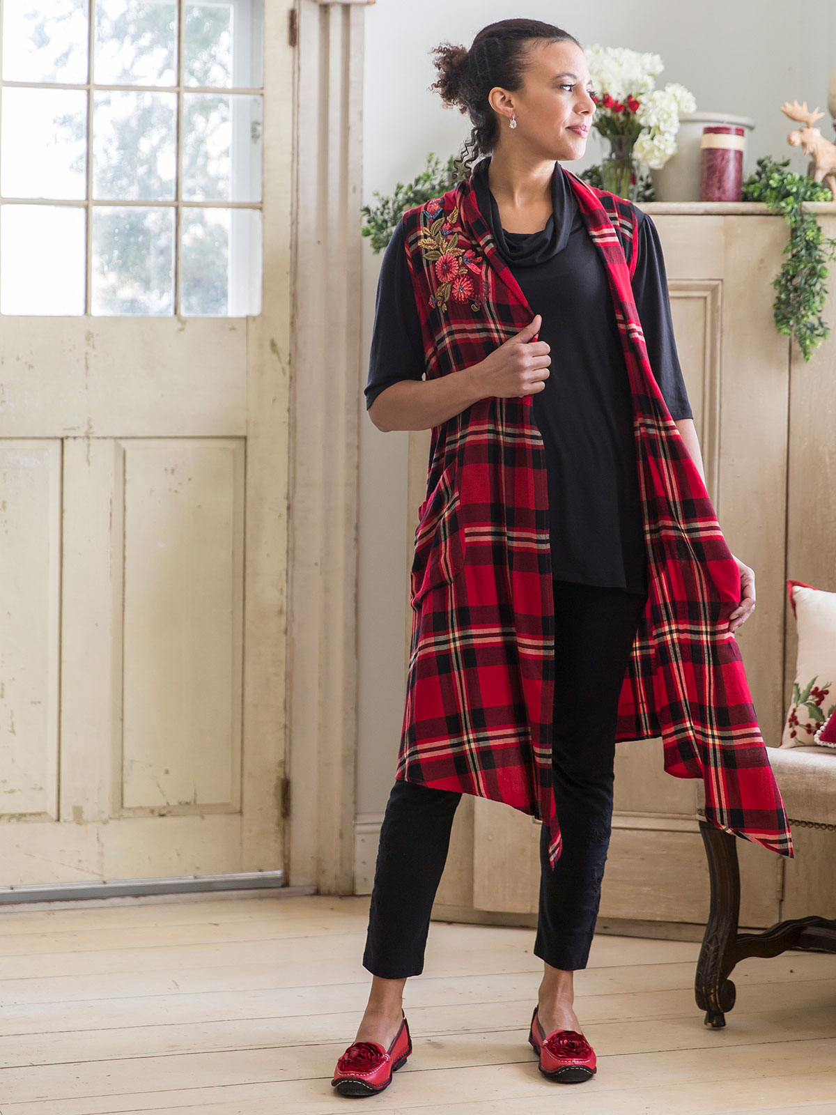 Robin Plaid Vest Ladies Clothing Jackets Amp Sweaters