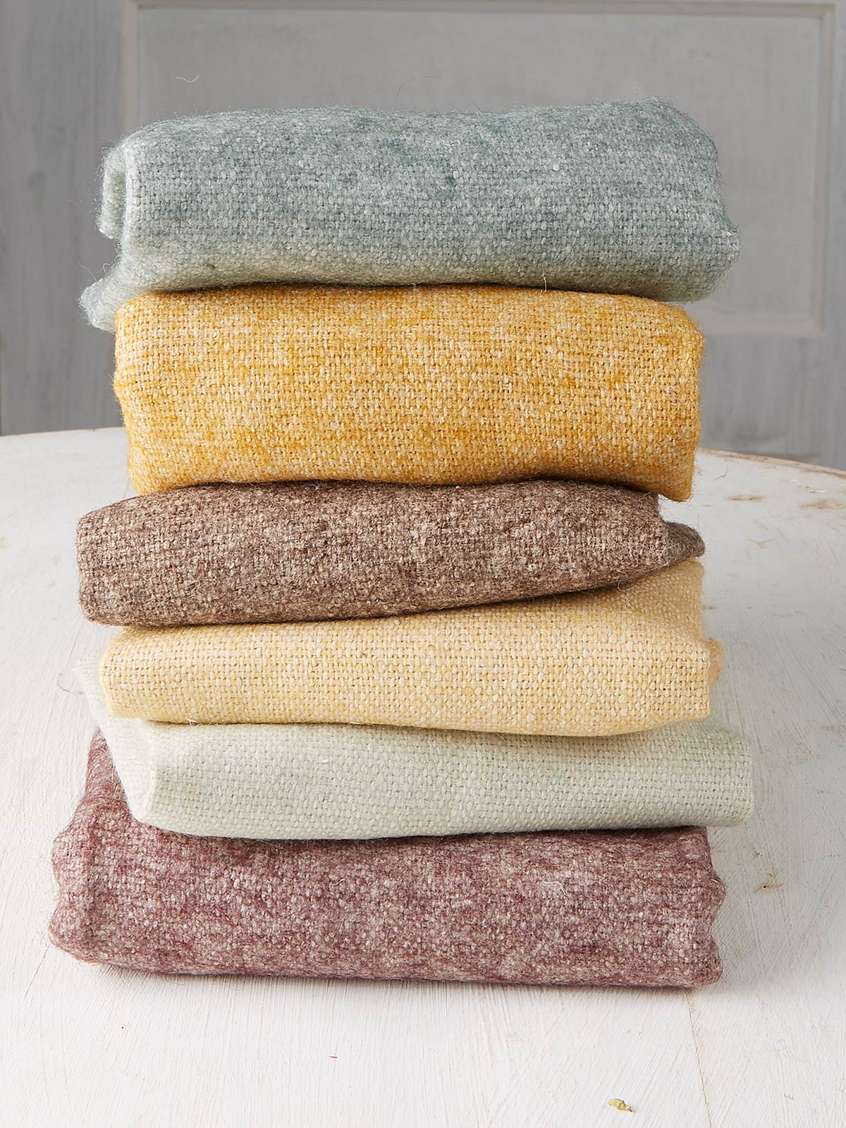 Natural Wool Felt Squares Set of 6