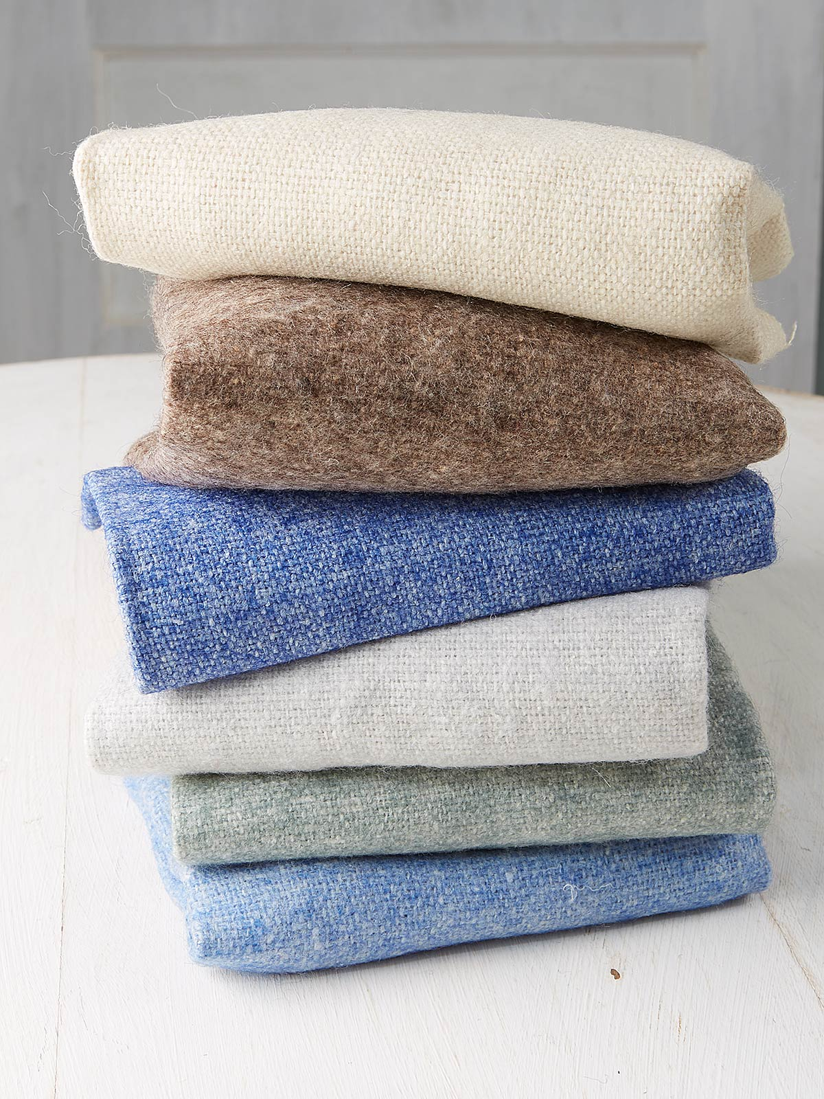 Winter Wool Felt Squares Set of 6