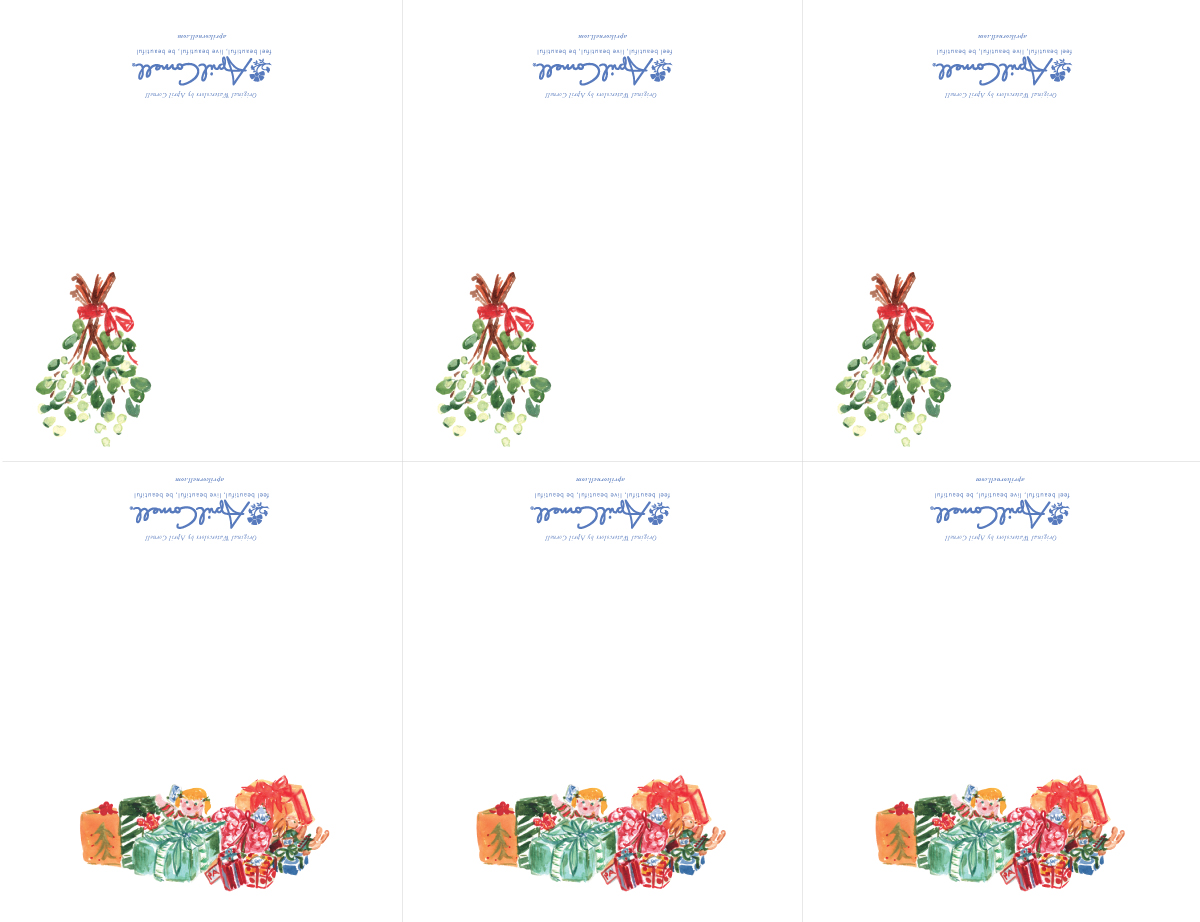 Mistletoe & Presents Place Cards