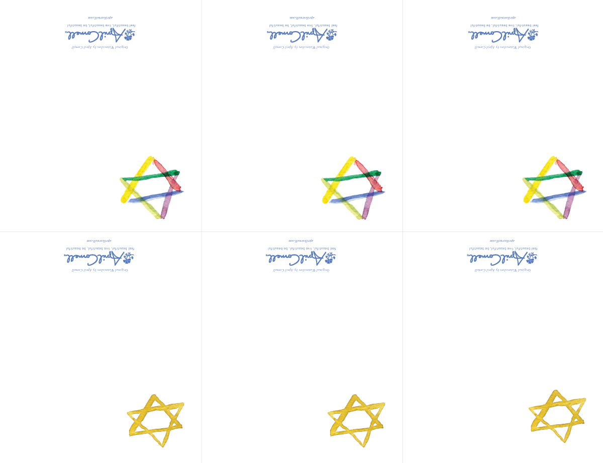 Star of David Place Cards
