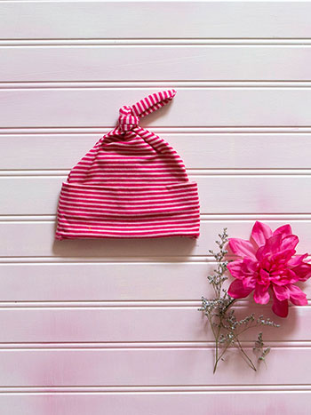 Candy Stripe Baby Cap