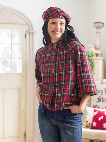 Winter Plaid Beret