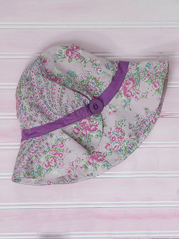 Sketch Paisley Girls Sun Hat
