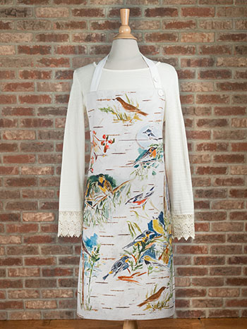 Boreal Birch Birds Chef Apron