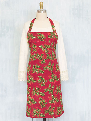 Holly Honeycomb Apron