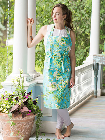 Water Lily Chef Apron