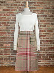 Homespun Christmas Plaid Apron