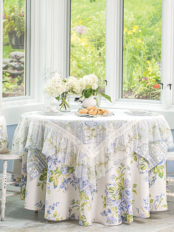 Bleach Blue Layered Table Set