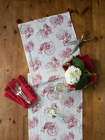 Backyard Rooster Runner Napkin Bundle