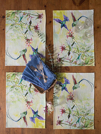 Hummingbird Placemat Napkin Bundle