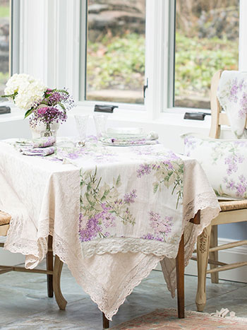 Linen & Lace Layered Table Set