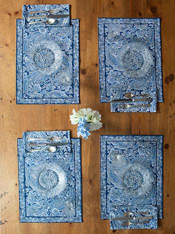 Priscilla Blue Placemat Bundle