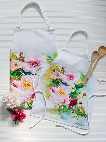 Peony Mommy and Me Aprons