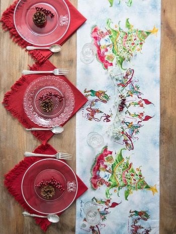 Elves Watercolor Table Set