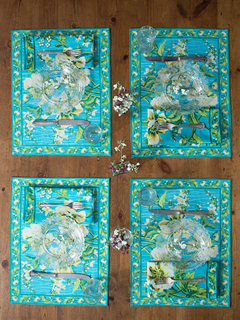 Water Lily Placemat Napkin Bundle