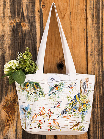 Boreal Birch Bird Market Bag