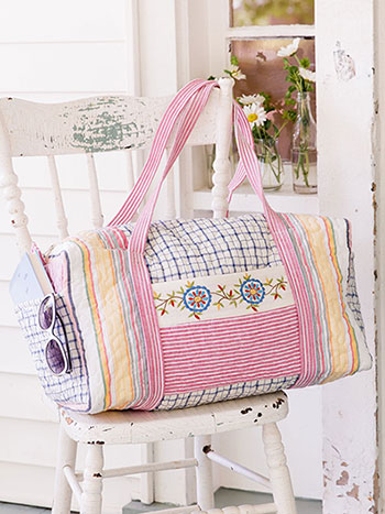 Aunt Gertie's Patchwork Duffle Bag