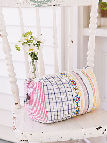 Aunt Gertie's Patchwork Large Cosmetic Bag